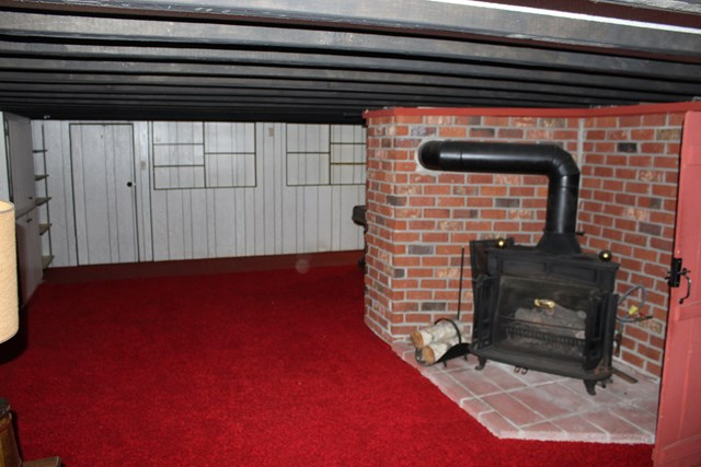 Lower Apt., basement family room with gas fireplac